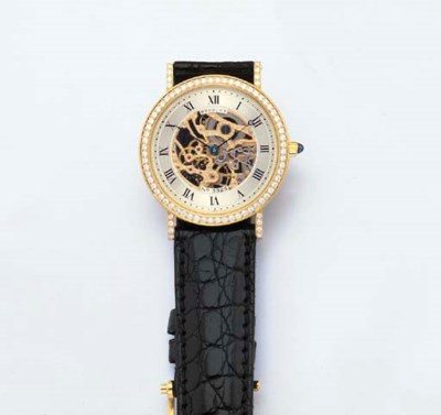 BREGUET. A FINE 18K GOLD AND D