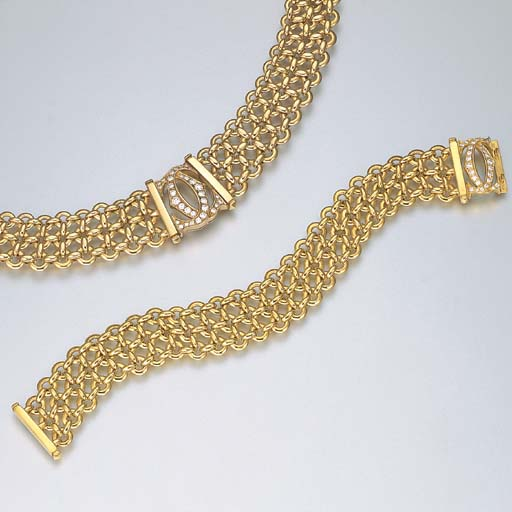 A SUITE OF 18K PINK OR YELLOW