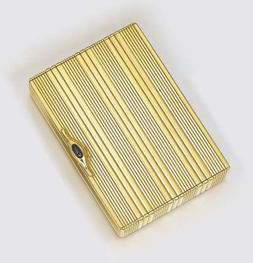 AN 18K GOLD CIGARETTE CASE, BY