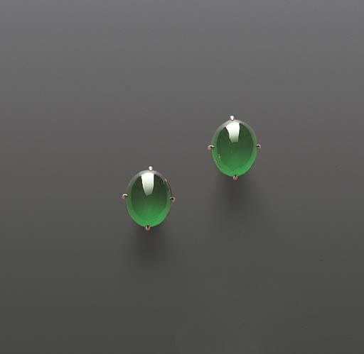 A PAIR OF JADEITE AND YELLOW D