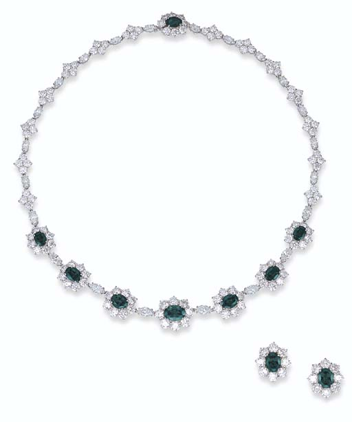 A SUITE OF ALEXANDRITE AND DIA