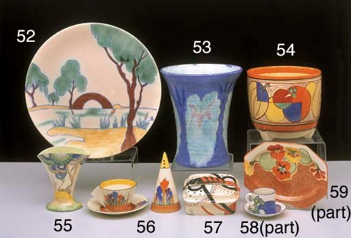 A CLARICE CLIFF 'BIZARRE' FAN