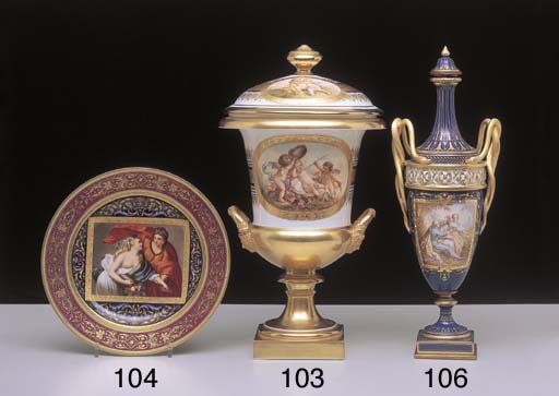 A VIENNA CABINET PLATE AND AN