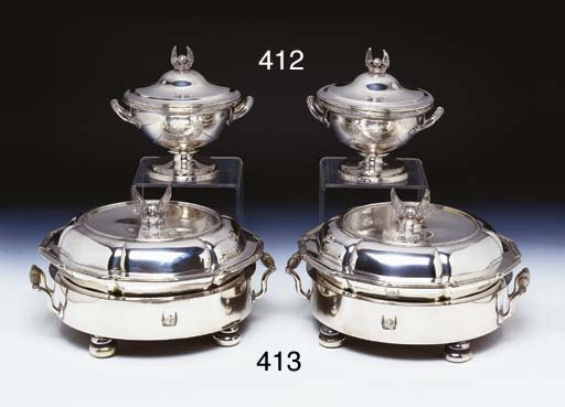 A PAIR OF GEORGE III STERLING