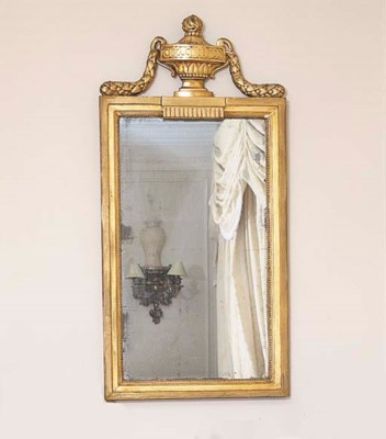 A NEO-CLASSICAL GILTWOOD MIRRO