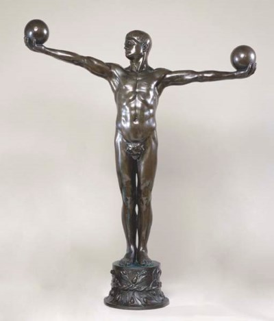 A CONTINENTAL BRONZE OF AN ATH