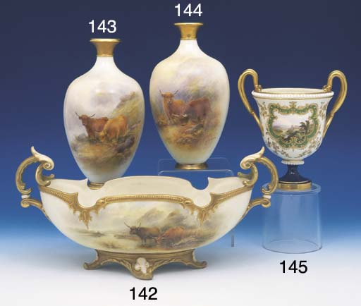 A ROYAL WORCESTER OVAL TWO HAN