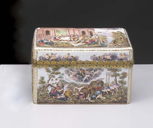 A GILTMETAL MOUNTED MEISSEN RE