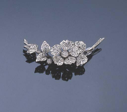 A VICTORIAN DIAMOND FLORAL SPR