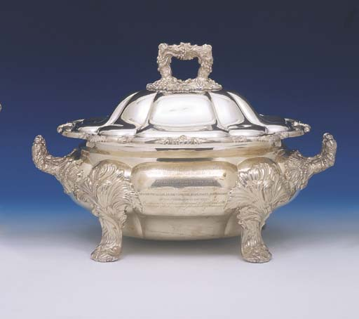 A WILLIAM IV STERLING SILVER O