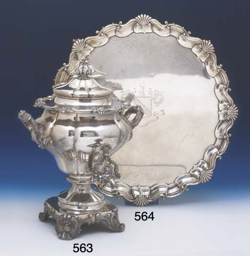 A LARGE VICTORIAN STERLING SIL