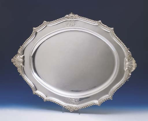 A LARGE GEORGE IV STERLING SIL