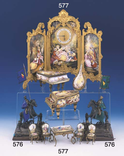 A PAIR OF VIENNESE SILVER, ENA