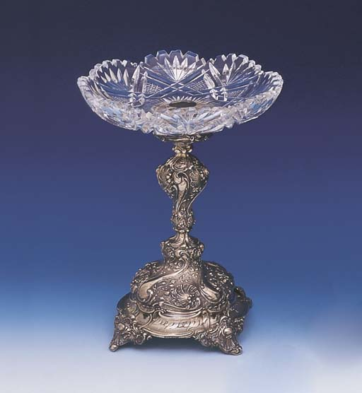A GERMAN SILVER MOUNTED GLASS