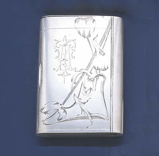 AN ART NOUVEAU RUSSIAN SILVER