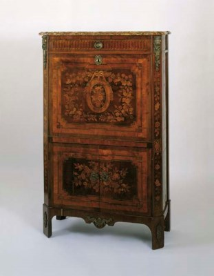 A LOUIS XVI MARQUETRY AND AMAR