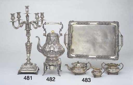 A VICTORIAN STERLING SILVER TE