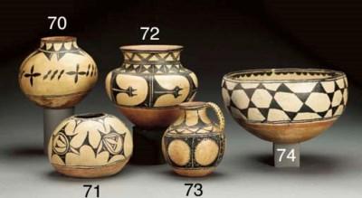 A COCHITI POLYCHROME SEED JAR