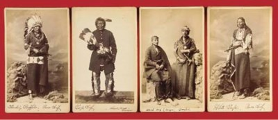A GROUP OF FOUR PHOTOGRAPHS OF