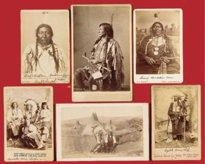 A GROUP OF SIX PHOTOGRAPHS OF