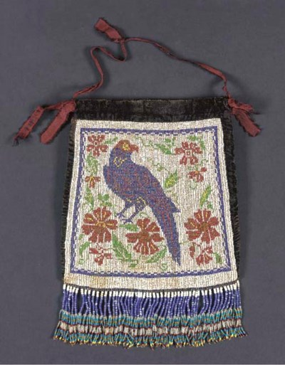 A COLUMBIA RIVER BEADED POUCH
