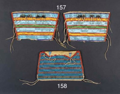 A CROW BEADED CLOTH AND HIDE P