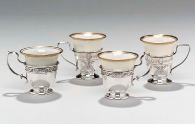 A SET OF AMERICAN SILVER DEMIT