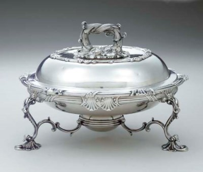 A VICTORIAN SILVER COVERED ENT