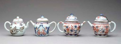 FOUR CHINESE EXPORT TEAPOTS AN
