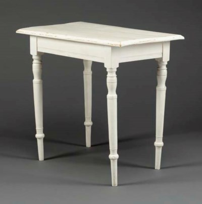 A WHITE PAINTED PINE SIDE TABL