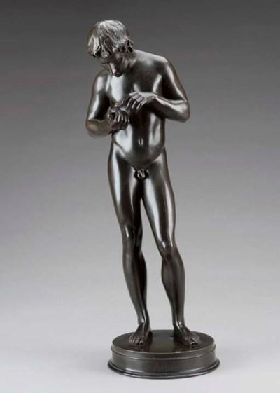 A German patinated bronze figu