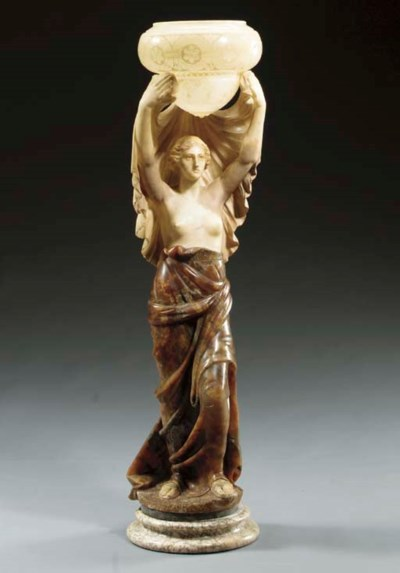 An Italian Art Deco figural on