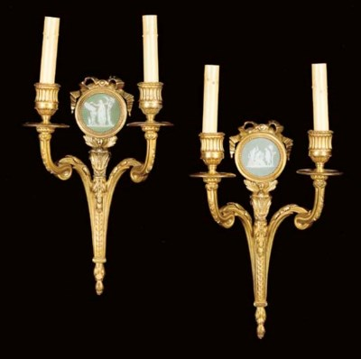 A pair of Louis XVI style jasp