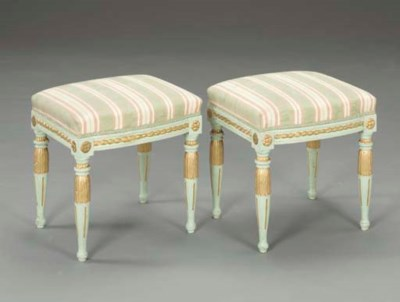 A PAIR OF LOUIS XVI STYLE GREE