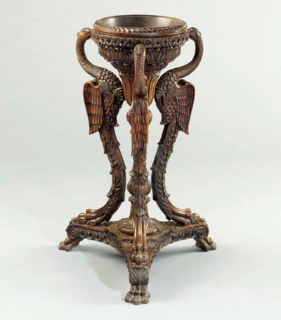 AN ANGLO-INDIAN CARVED HARDWOO
