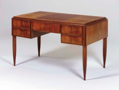 A FRENCH ROSEWOOD DESK,