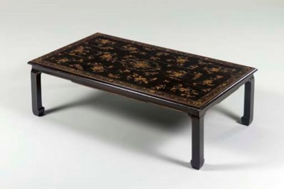 A CHINOISERIE AUBERGINE AND GI