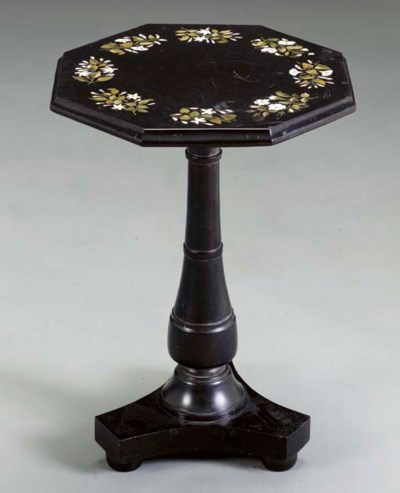 A LATE VICTORIAN INLAID BLACK