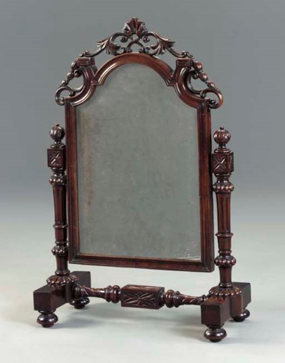 AN EARLY VICTORIAN ROSEWOOD TO