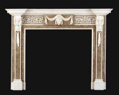 A GEORGE III STYLE WHITE AND M