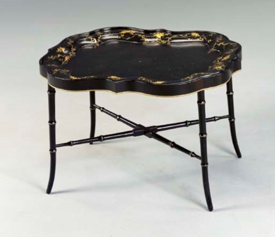 A VICTORIAN BLACK AND GILT JAP