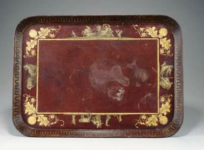 A REGENCY PARCEL-GILT BURGUNDY