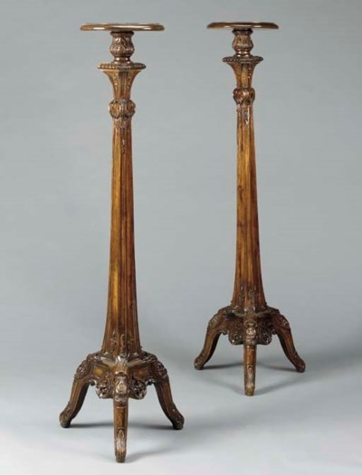 A PAIR OF GEORGE II STYLE STAI