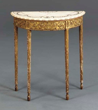 A LATE VICTORIAN GILTWOOD SIDE