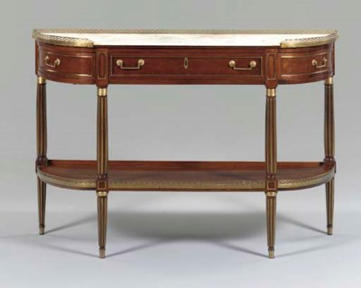 A DIRECTOIRE BRASS-MOUNTED CON