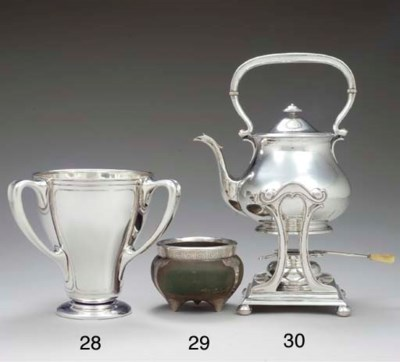 A SILVER AND COPPER LOVING CUP
