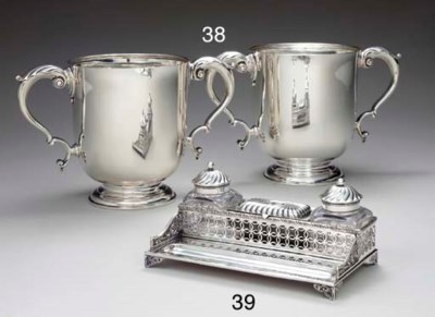 A PAIR OF TWO-HANDLED SILVER C