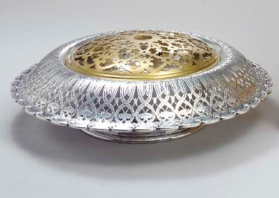 A SILVER CENTERPIECE BOWL