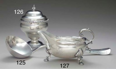 A SILVER SAUCEBOAT