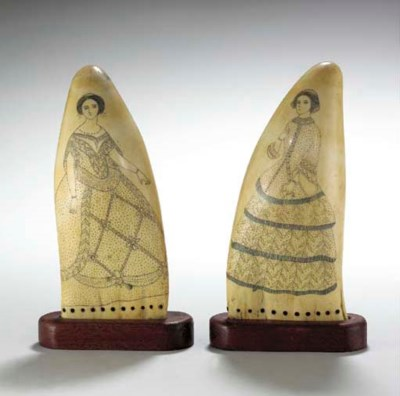 A PAIR OF ENGRAVED, POLYCHROME
